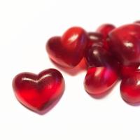Fruchtsaft-Herzen