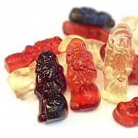 Fruchtsaft-Weihnachtsmänner